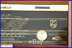 Radio Philips B5X23A/04 Table top plano stereo hifi vintage EL84 6BQ5 EZ81 6CA4