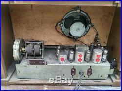 Radio Radiola Radiogram Very Rare RODINA USSR 50s Vintage Tube