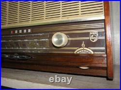 Radio tuner valve Philips vintage radio Scandinavian design tube lamp vtg retro