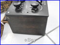 Radiola III vintage radio 1924 with 2 tubes included C11 Regenerative Receiver