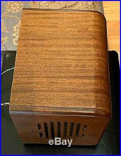 Rare 1937 Vintage Wood Zenith Tube Radio Model 5f233 Wired