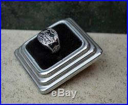 Rare Vintage 1930s Art Deco Bakelite MAJESTIC RADIO tube Silver Advertising Ring