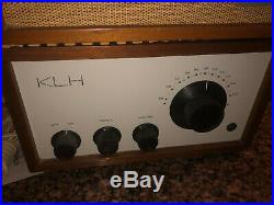 Rare Vintage KLH Model Eight Tube FM Walnut Receiver and speaker WORKS GREAT