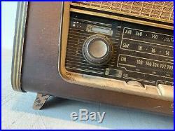 Rare Vintage Tivoli 300 Tube Radio AM FM Olympic Continental New York LARGE Wood