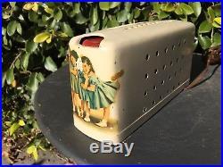 Rare Vintage Tube Radio Stewart Warner Model A-6S Air Pal Dionne Quints
