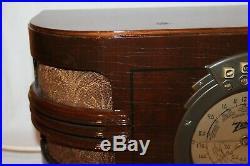 Rare Vintage Zenith Wooden Tube Table Radio Model 6 B 321 Working