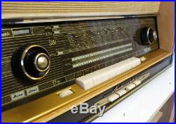Restored! Saba Freiburg Automatic 100 Stereo Vintage Tube Radio Fantastic Dark