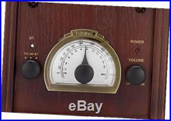 Retro am/fm radio with bluetooth classic wooden vintage retro style speaker