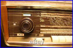 SABA WILDBAD 9, german vintage tube radio, built 1958, restored