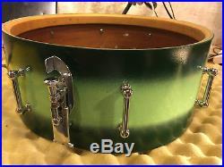 SLINGERLAND 5.5x15 Snare Drum Radio King Shell 40s Vtg Tube Lugs Duco COB Rims