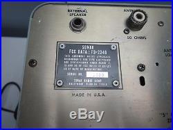SONAR FS-2340, VINTAGE 40 CHANNEL TUBE CB RADIO BASE Station Not Tested