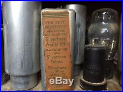 Sear Roebuck Co Silvertone Antique Vintage Police Band Scanner Radio