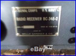 Signal Corps BC-348-O Receiver By Wells Gardner, Vintage WW2 Ham Tube Radio