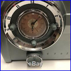 Silver CROSLEY DASHBOARD VINTAGE CLOCK RADIO Cassette CHARTREUSE