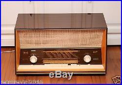 Splendid! Mint! GRAETZ Fantasia 1022 Stereo Vintage Tube Radio 13x Tubes 4xEL95