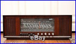 Splendid! SABA Konstanz KN18 Stereo Vintage Tube Radio in Glossy Wooden Case 60s