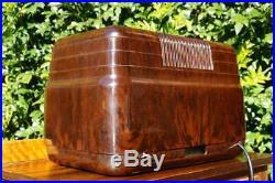 Stunning Classic Vintage Kriesler 11-7 Brown Bakelite Valve Tube Radio Late 40's