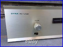 Top Condition Vintage Dynaco FM-3 Tube FM Radio Tuner with Genuine OEM Manual