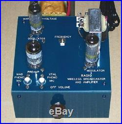 UNBUILT Knight BROADCASTER vintage vacuum tube AM radio transmitter repro kit