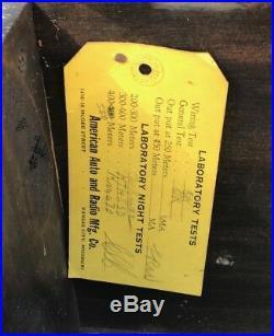 VINTAGE 1920'S AMERICAN BEAUTY TUBE BATTERY SET RADIO Wood Old Rare KC Missouri