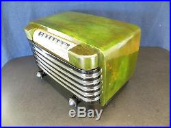 VINTAGE 1940s BENDIX MACHINE AGE MID CENTURY ART DECO OLD CATALIN BAKELITE RADIO