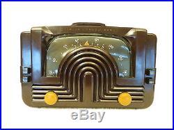 VINTAGE 1940s OLD ZENITH ART DECO ANTIQUE BAKELITE TUBE