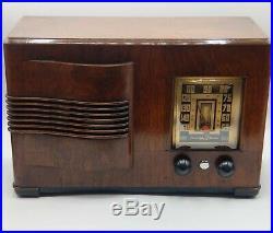 VINTAGE 1941 EMERSON INGRAHAM model 350 ART DECO Tube RADIO