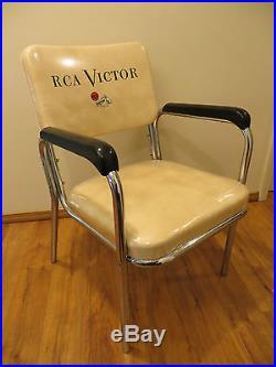 VINTAGE 1950s BAKELITE u0026 CHROME MID CENTURY RCA VICTOR CHAIR u0026 NIPPER ... & VINTAGE 1950s BAKELITE u0026 CHROME MID CENTURY RCA VICTOR CHAIR ...
