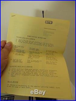 VINTAGE 1980s OLD ANTIQUE TELECOM GTE MOBILE NET CELL PHONE