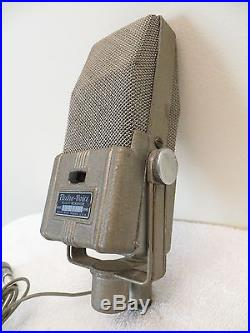 VINTAGE 40s OLD ELECTRO VOICE MODEL V2 CLASSIC ANTIQUE RADIO RIBBON MICROPHONE