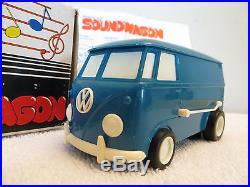 VINTAGE 70s OLD PHONOGRAPH VW HIPPIE ANTIQUE VOLKSWAGEN VAN SOUNDWAGON & WORKING