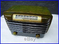 VINTAGE BENDIX CATALIN TUBE RADIO MODEL 0526 C WORKS WELL