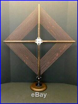 VINTAGE OLD 1920s EXCELLENT LINCOLN FOLDING ANTIQUE WOOD RADIO LOOP ANTENNA