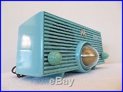 Vintage arvin tube clock radio mid century jet age