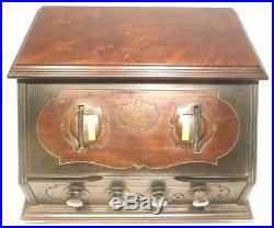 VIntage RCA RADIOLA 20 RADIO VERY NICE CONDITION Untested with 5 LONG PIN TUBES