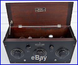VTG (1923) Garod RAF Tube Radio Receiver with Original Box & Ad SUPER RARE