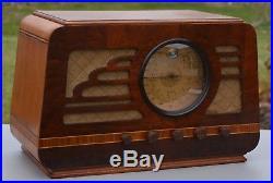 VTG (1936) Silvertone 4565 Sears GOLDEN JUBILEE BC & SW Tube Radio with Magic Eye