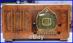 VTG (1937) Detrola 175E Broadcast & Shortwave Tube Radio with Electronic Tuning