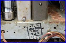VTG (1940) Philco 49-90 Bakelite AM Broadcast Tube Radio Farm Set