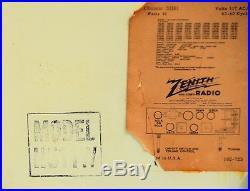 VTG (1951) Zenith H511W RACETRACK BC AM Tube Radio Receiver It WORKS