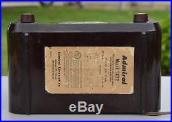 VTG (1952) Admiral 5X22 BC AM Clock Radio Tube Receiver