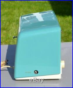 VTG (1956) RCA Victor 8-C-7LE Tube Clock AM Radio rEtrO AQUA Color