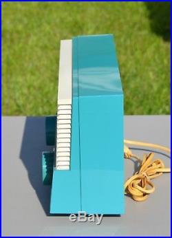 VTG (1959) Sylvania 1108 AM BC Tube Radio Receiver Dark Turquoise It WORKS