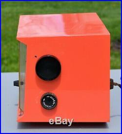 VTG (1959) Westinghouse H678T4 Tube Clock AM Radio ReTrO CORAL Color