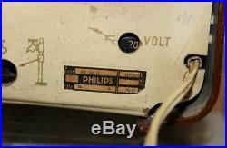 VTG ORIGINAL 1950s PHILIPS PHILETTA BD263U TUBE RADIO. RARE. WORKS