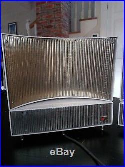 VTG PAIR 1950's PHILCO ELECTROSTATIC SPEAKERS PREDICTA EAMES SPUTNIK MCM H1814
