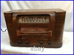 VTG Philco 46-431Tube Short Wave Radio Working Broadcast Short Wave Wood Case