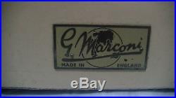 Very Rare Vintage British G. Marconi Bakelite Tube Radio