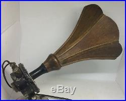 Vintage 1920s AR 43 Amplion Junior Wooden Tube Radio Loud Speaker