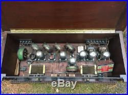 Vintage 1920s Smith Pagel radio battery tube transistor tuner mahogany case
